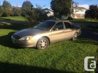Make. Ford. Version. Taurus. Year. 2003. Colour. Gold.