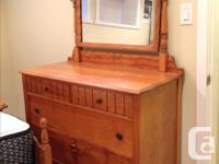 Solid wood Double bed includes headboard, footboard and