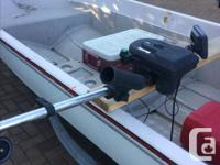 14 foot boston whaler type of boat (Gamefisher).