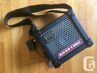 Small, light, and portable guitar amp. Handy grab and