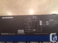 Samson S-Phone Headphone Mixer/Amplifier For Sale.