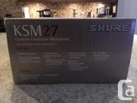 Shure KSM27 Studio Condenser Microphone For Sale.