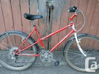 This is a vintage bike from Raleigh, classic lugged