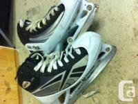 Reebok, size 5, goalie skates, 1 1/2 seasons use. All