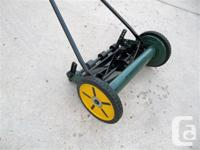 14-inch Yardworks reel lawnmower for sale. Used only a