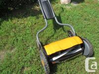 StaySharp Reel Mower . The eco-friendly reel mower