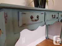 """Gorgeous table refinished and painted with """"Wishing"""