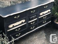 The new look for this vintage dresser was done with