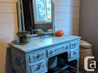 Beautiful boho/country vanity, painted and sealed with
