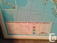 Very old 3 D raised map of North America. Teaching aid