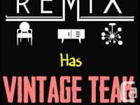 REMIX Has Vintage Teak Furniture ... We like the cool