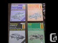 Haynes Repair Manuals in good condition. These manuals
