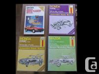 Haynes and Chilton's Repair Manuals in good condition.