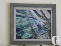 BEUTIFUL PAINTING BY NOVA SCOTIA MOUTH PAINTER EARL