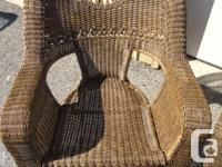 Our loss is your gain. This is a beautiful resin wicker