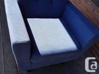Blue like new sofa $1500, blue like new love seat