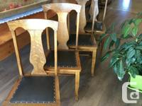 Gorgeous set of completely restored oak dining chairs