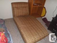 70s style chaise longue. Comfy, sturdy, and in nearly