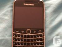marketing an unlocked blackberry bold 9900. possesses