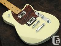 Reverend Flatroc MN Cream Electric Guitar -   This