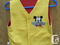 NEW very cute reversible Baby Vest with Baby Micki
