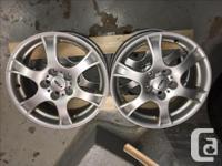 Rial wheels from Volkswagon Sport Wagon. 5 X 112mm bolt