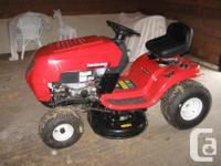 """38"""" cut Yard Machines ride-on lawn tractor. 420CC"""