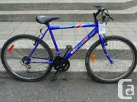 "Sportex RidgeRunner,. 18"" structure,. 18 speed,. $100."