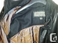 - MINT condition men's medium REAL leather jacket. no