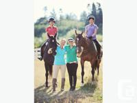 Balance Equestrian Centre in Campbell River is offering