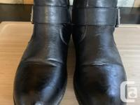 Rieker black leather boots for sale - 8/39 2� heels 16�