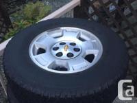 RIms and Tires off a 2010 Silverado 1500 Off a