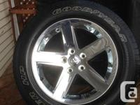4 x Dodge Ram 1500-5 Bolt Rims & Tires. 20 inch rims