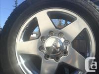 Chev or GMC Rims & Tires, 8 bolts, LT265-60R20 will fit