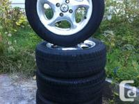 RIMS WITH TIRES  - 185/60/14 - 4/100 - came of 2002