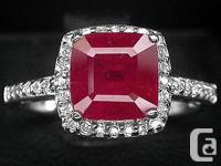 Both have never ever been put on. Ruby Ring. Shape: