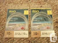 RIO Bonefish Tapered Leaders x 5 - Brand New 2 x 10 FT