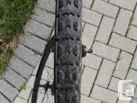 Non-Disk carbon cyclocross wheelset with tires mounted,