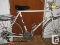 Road bike, light & fast 10 speed kick stand rear rack