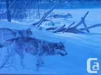 "Robert Bateman ""Canadian Winter Wolf Pack"" This print"