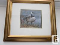 "Canada Goose - 13"" x 15"" - $15.00 OBO Bird in Winter -"