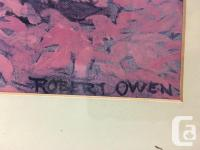 Robert Owen Clown Print Reading Stock Market Newspaper