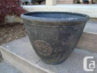 """Stone Look"" Fiberglass Pot. - 17.5"" size x 13"" tall. -"