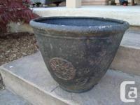 """""""Stone Look"""" Fiberglass Pot. - 17.5"""" size x 13"""" tall. -"""