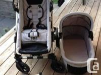Rock Star baby stroller with bassinet, toddler seat and