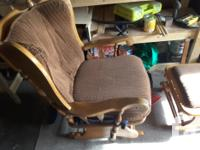 Glider with foot stool also glides. Chair needs a