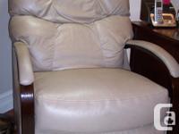 Gorgeous almond colour 'Lazyboy' rocker/recliner,
