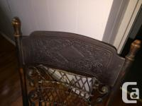 This chair was made about 100 years ago in Ontario. It