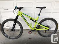 I am selling my wife's bike for her, it is a large size