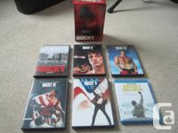 I have for sale the complete ROCKY movies series on DVD